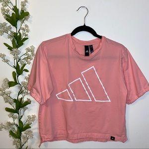 Adidas Pink M cropped tee
